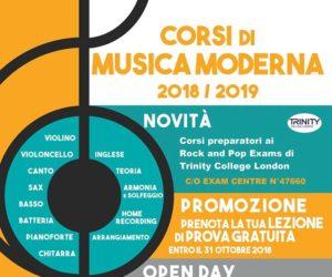 Aperte le iscrizioni per i corsi di canto e strumento 2018/2019!!!